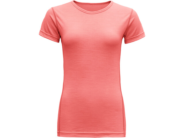 Devold Breeze Camiseta Mujer, coral